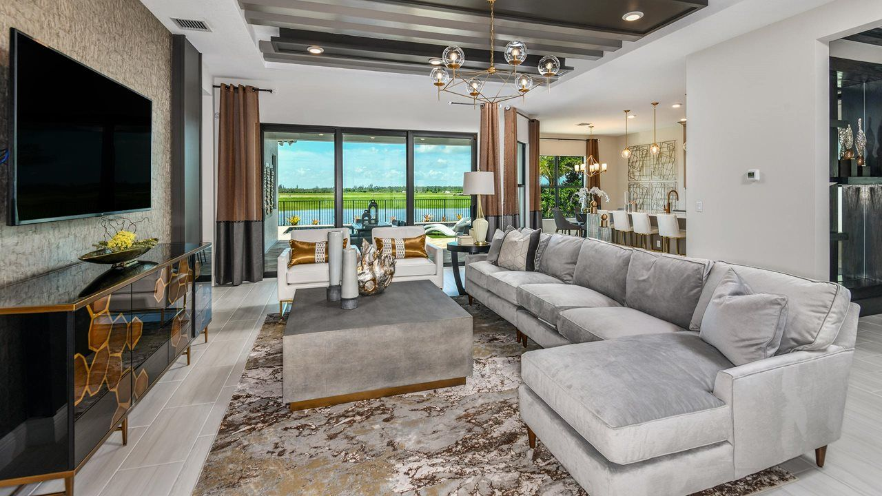 Living Area featured in the Rosemary By Kolter Homes in Palm Beach County, FL