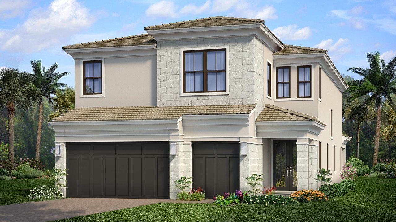 Exterior featured in the Hudson By Kolter Homes in Palm Beach County, FL