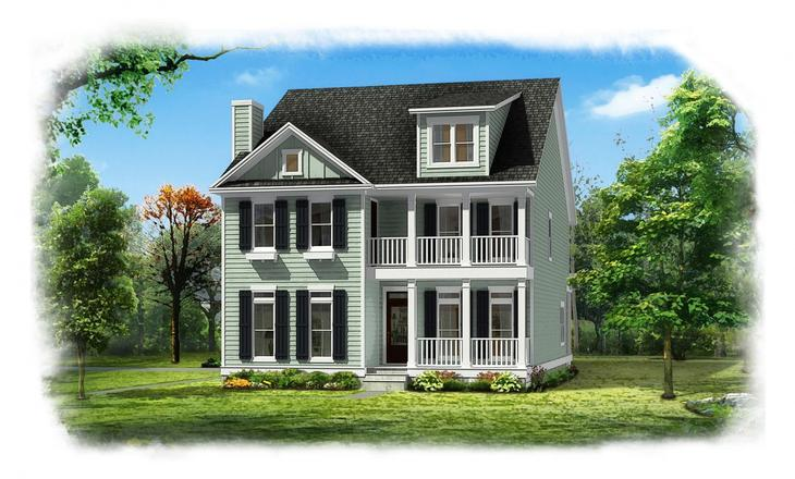 Exterior:Konter Quality Homes Bluffside The Sapelo 20160308