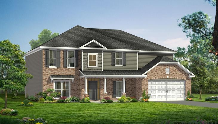 Exterior:Konter Quality Homes Montgomery Ele B Front Entry 20160715