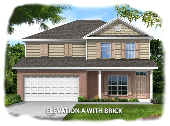 Exterior:Franklin-Elev-A-with-Brick-Accents