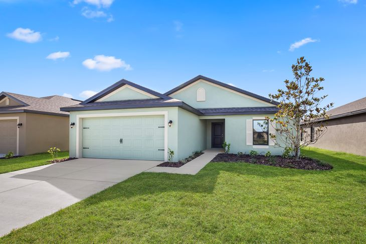 The Bokeelia by LGI Homes:Beautiful stucco exterior offers gorgeous curb appeal