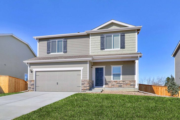 The Yale by LGI Homes:Beautiful 3 bed/2.5 bath two-story home available at PrairieStar