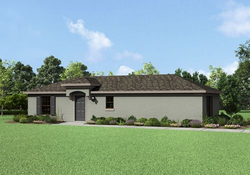 The Orchid by LGI Homes:The Orchid features a gorgeous exterior.