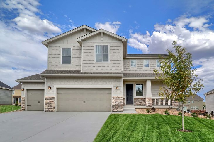 LGI Homes at Spring Valley Ranch:This 4 bed/2.5 bath home has gorgeous curb appeal!