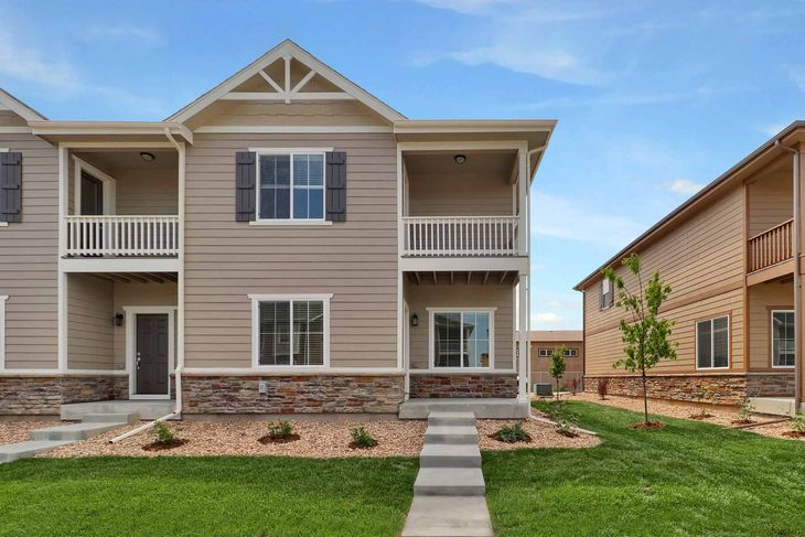 The Monarch by LGI Homes:This 3 bedroom townhome has charming curb appeal!