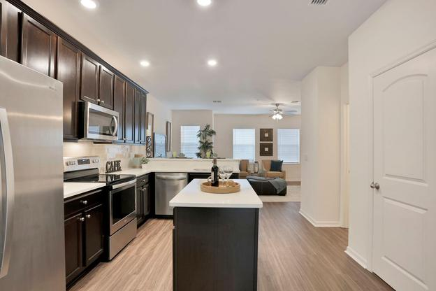 Celebration Pointe:Stainless-steel kitchen appliances