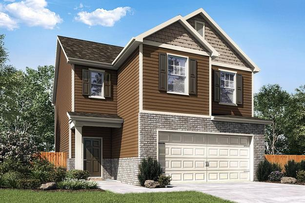 The Burke by LGI Homes:Great Curb Appeal and Spacious Living Room!