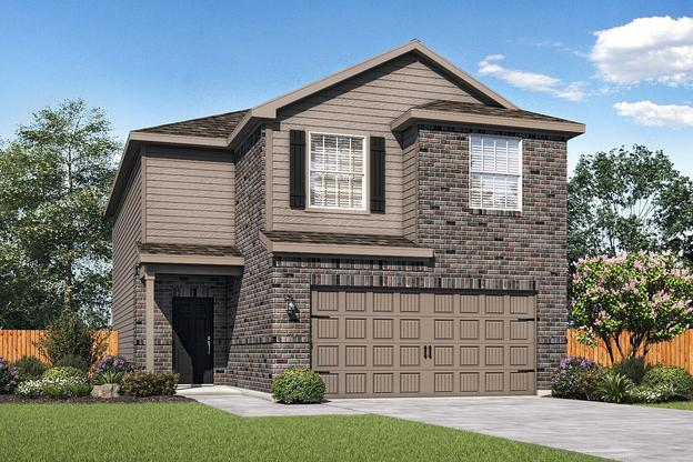 The Mesquite Plan by LGI Homes:The Mesquite is a gorgeous two-story home in the community of Morningside Trails!