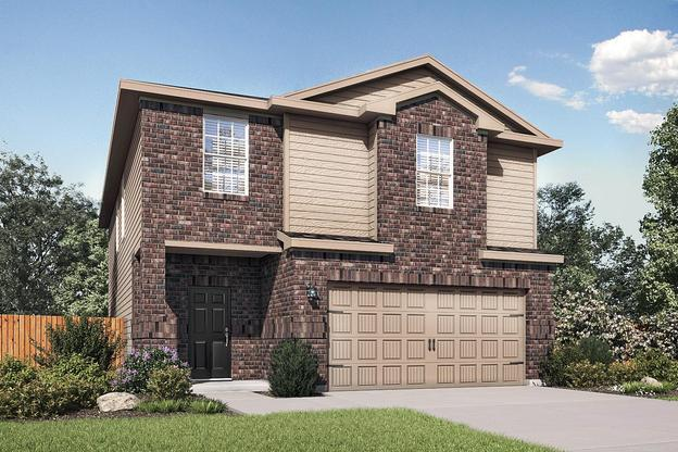 The Osage Plan by LGI Homes:The Osage plan has 4 bedrooms, 2.5 baths and an attached 2-car garage!