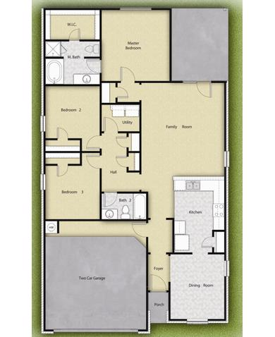 Lgi Homes Floor Plans 4 Br 2 Ba 1 Story Floor Plan House