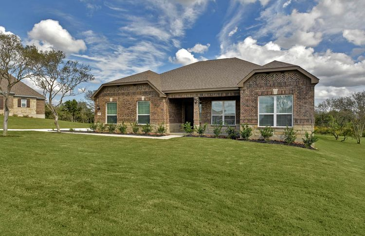 Exterior featured in the The Fairview By Terrata Homes in San Antonio, TX