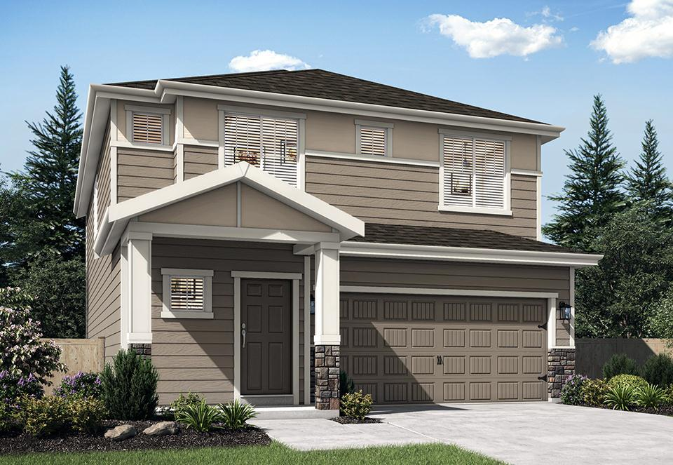 Exterior featured in the Oak By LGI Homes in Portland-Vancouver, WA