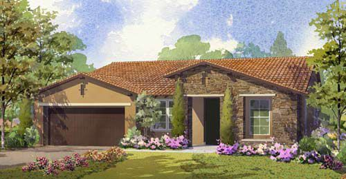 Exterior featured in the Bella Vista - Residence 1 By Lafferty Communities in Stockton-Lodi, CA