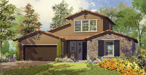 Exterior featured in the Bella Vista - Residence 2 By Lafferty Communities in Stockton-Lodi, CA