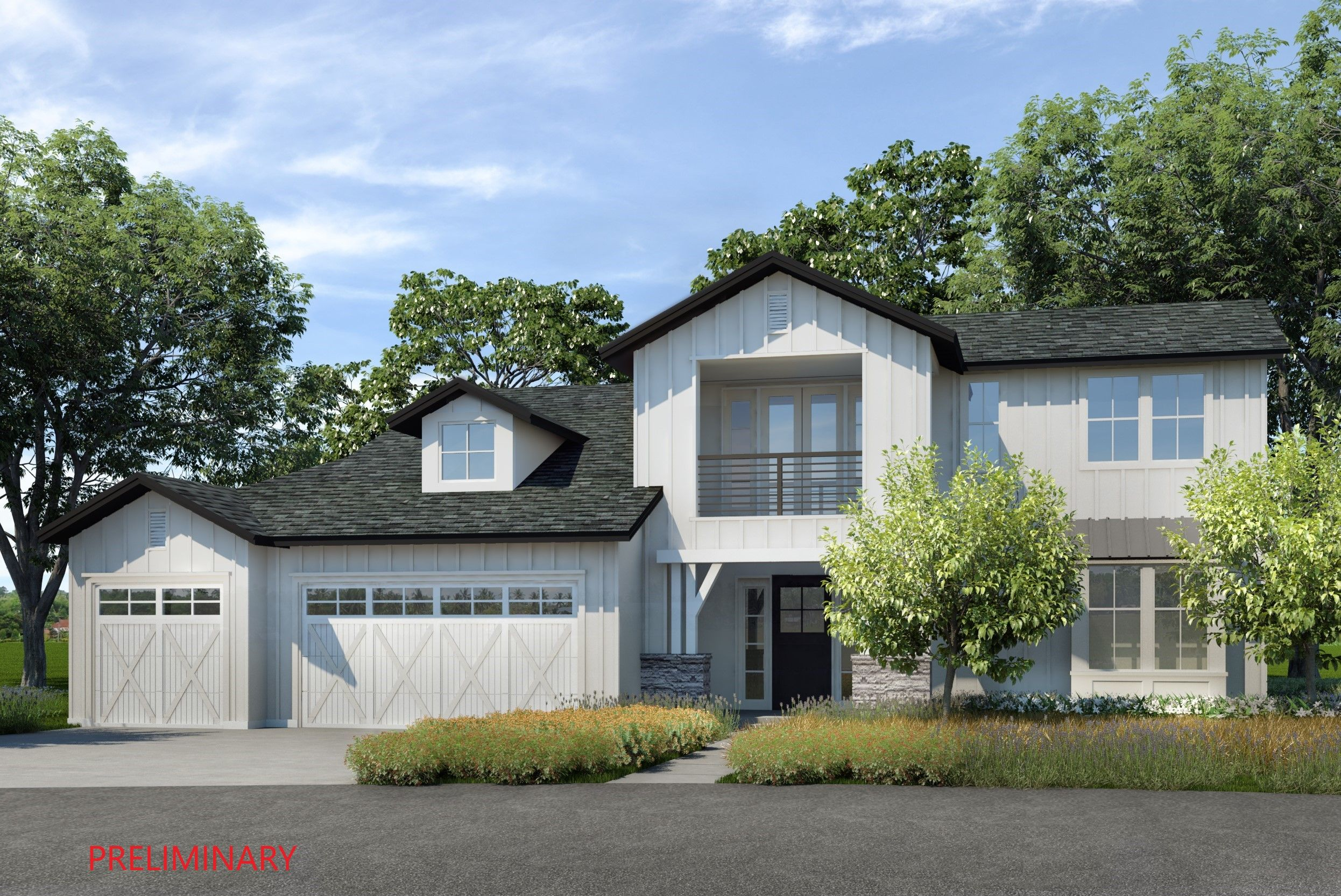 Exterior featured in the Residence 9 By Lafferty Communities in Santa Rosa, CA