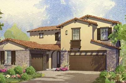 Exterior featured in the Bella Vista - Residence 3 By Lafferty Communities in Stockton-Lodi, CA