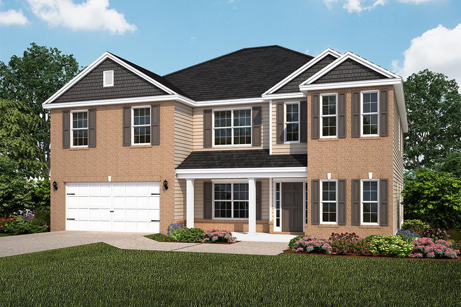 Exterior featured in The Gwinnett (Build on your lot) By Lamar Smith Homes in Savannah, GA