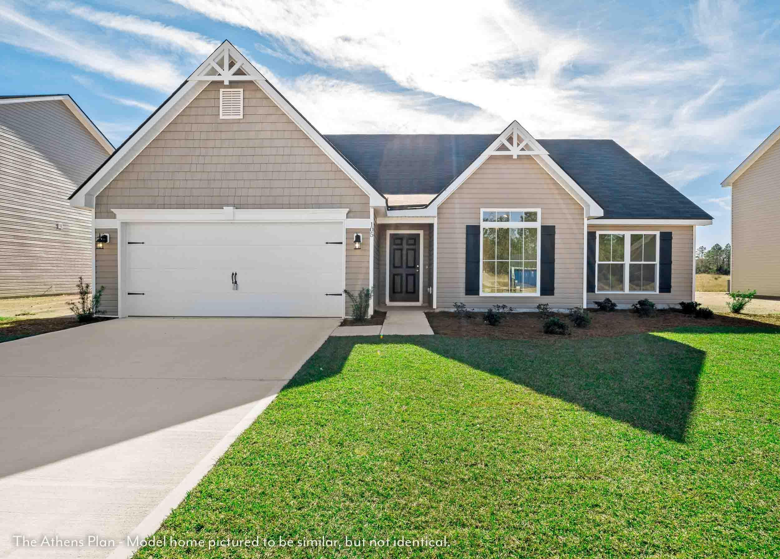 Exterior featured in The Athens (Build on your lot) By Lamar Smith Homes in Savannah, GA