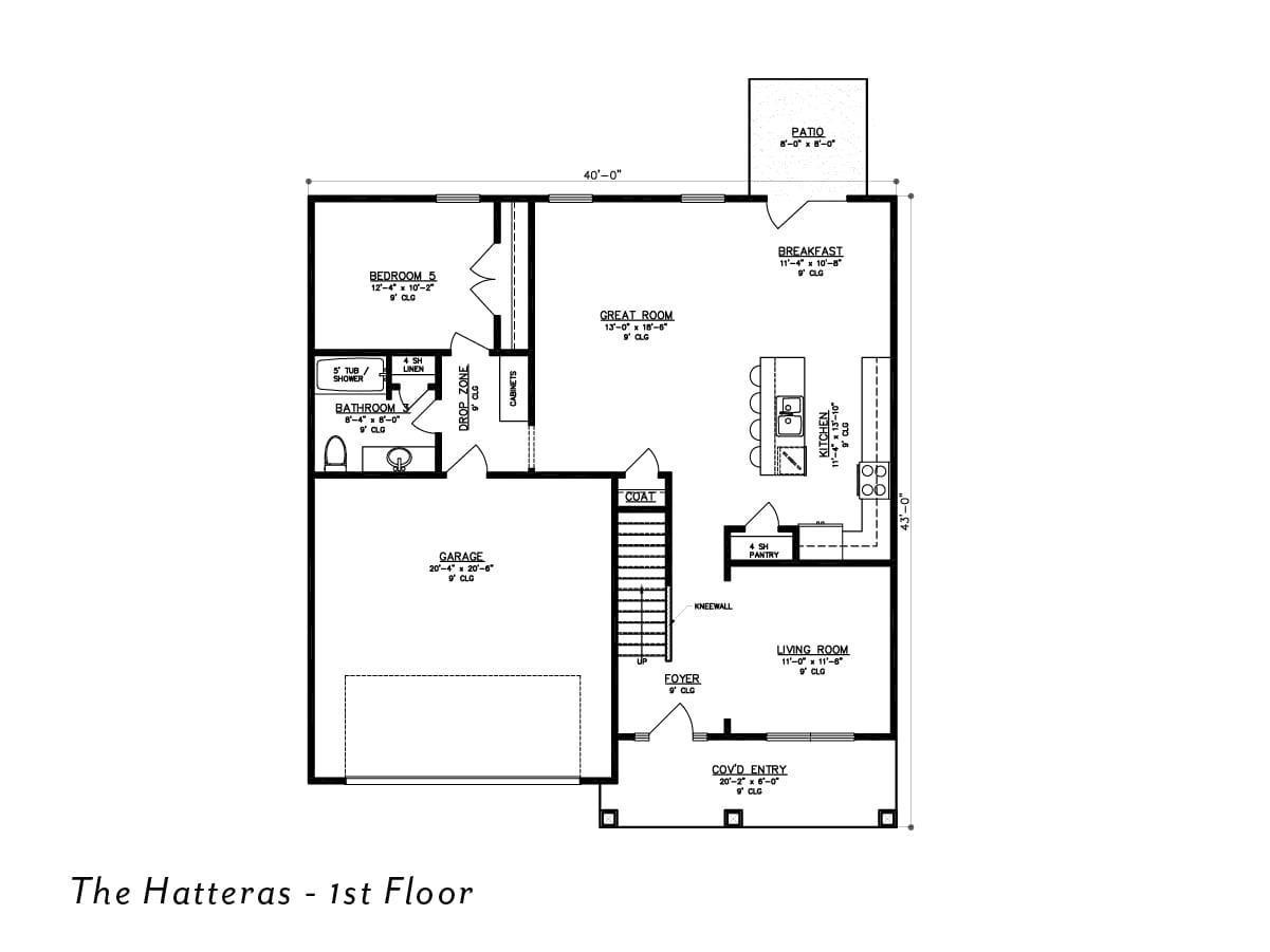 The Hatteras 1st floor