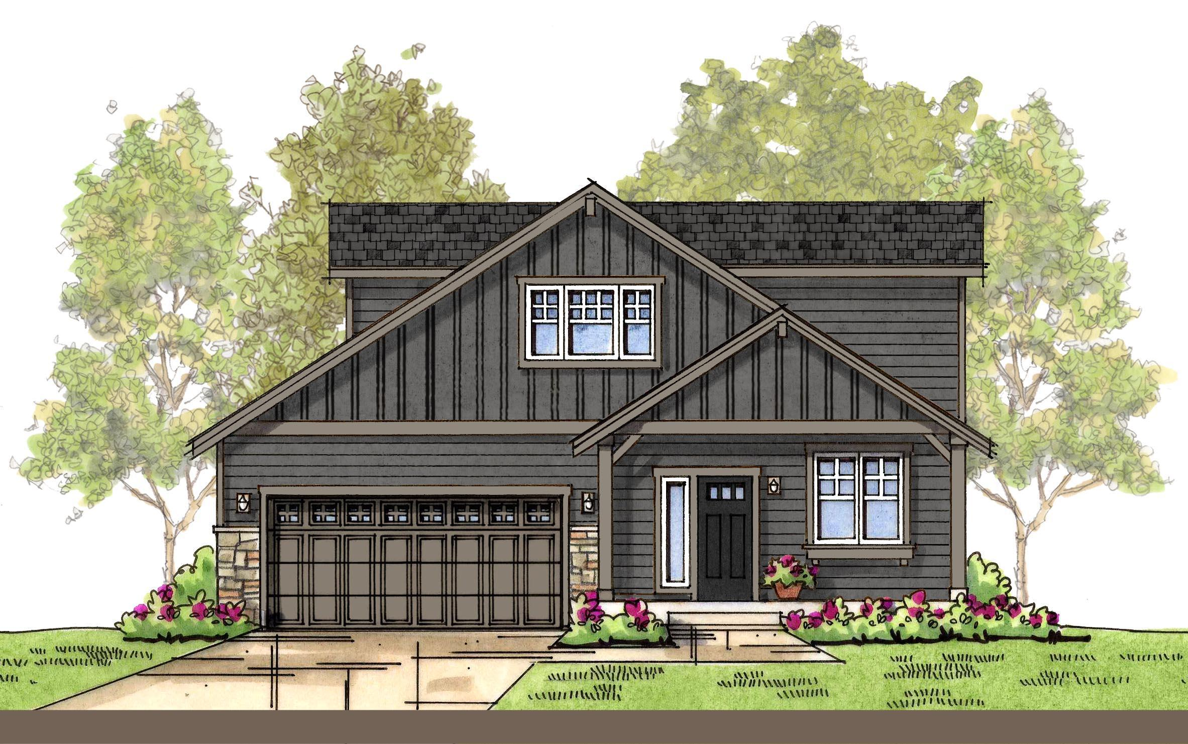 Exterior featured in the CC Garden By Landed Gentry Homes in Bellingham, WA