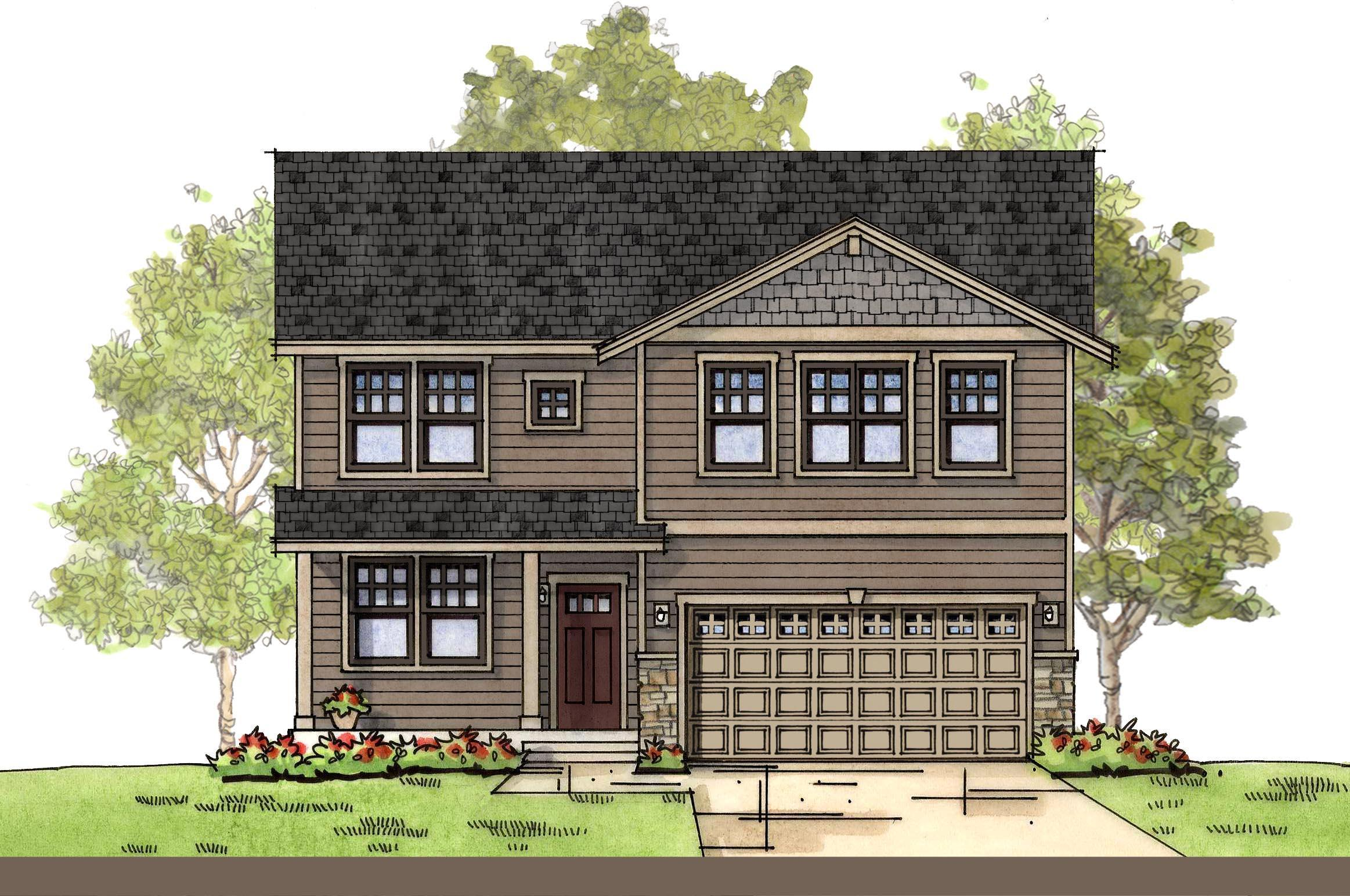 Exterior featured in the CC Cascade By Landed Gentry Homes in Bellingham, WA