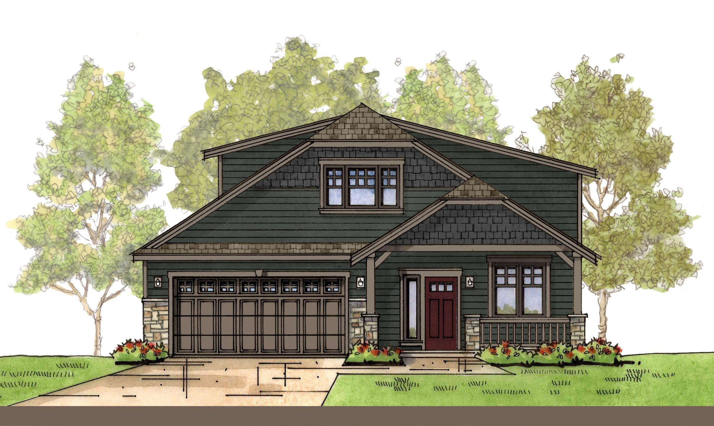 Exterior featured in the WP Garden By Landed Gentry Homes in Bellingham, WA