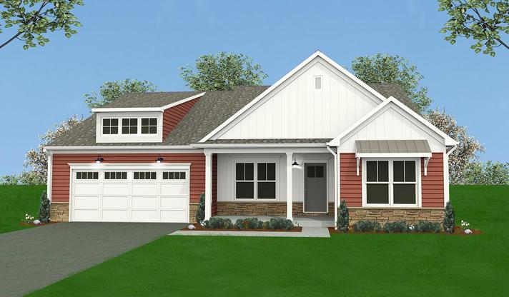 The Norton Home Plan in Mechanicsburg PA:Elevation A