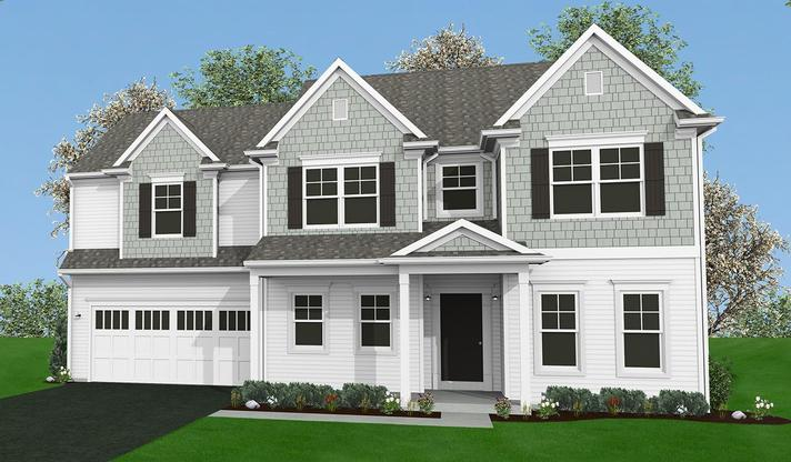 The Darien Home Plan in Mechanicsburg PA:Elevation B