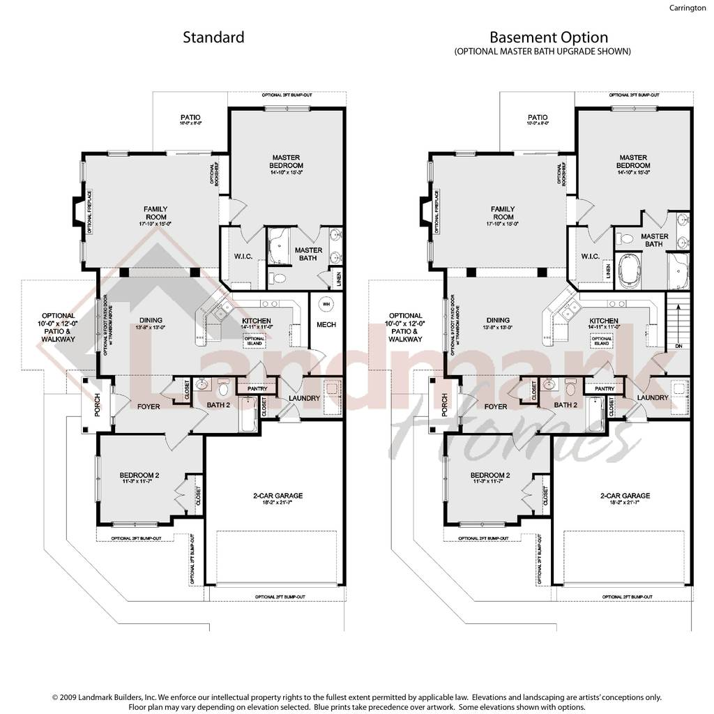 Carrington Home Plan By Landmark Homes In Available Plans