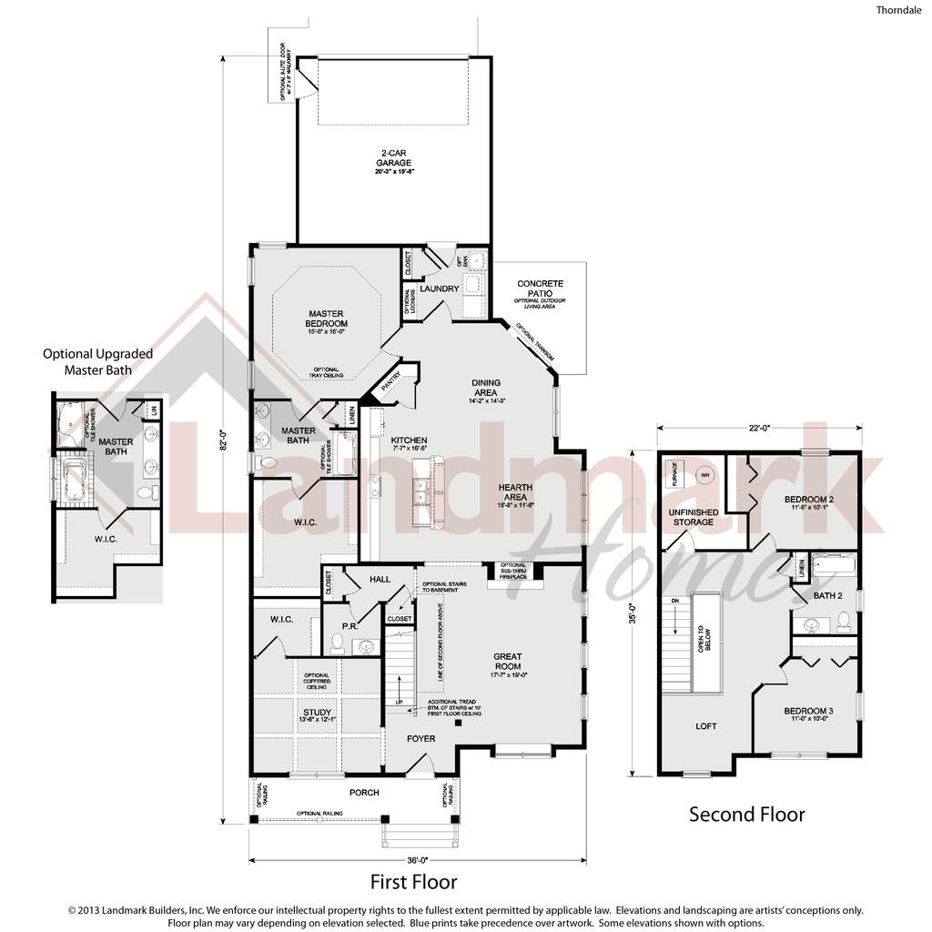 The thorndale home plan by landmark homes in home towne for Landmark house plans