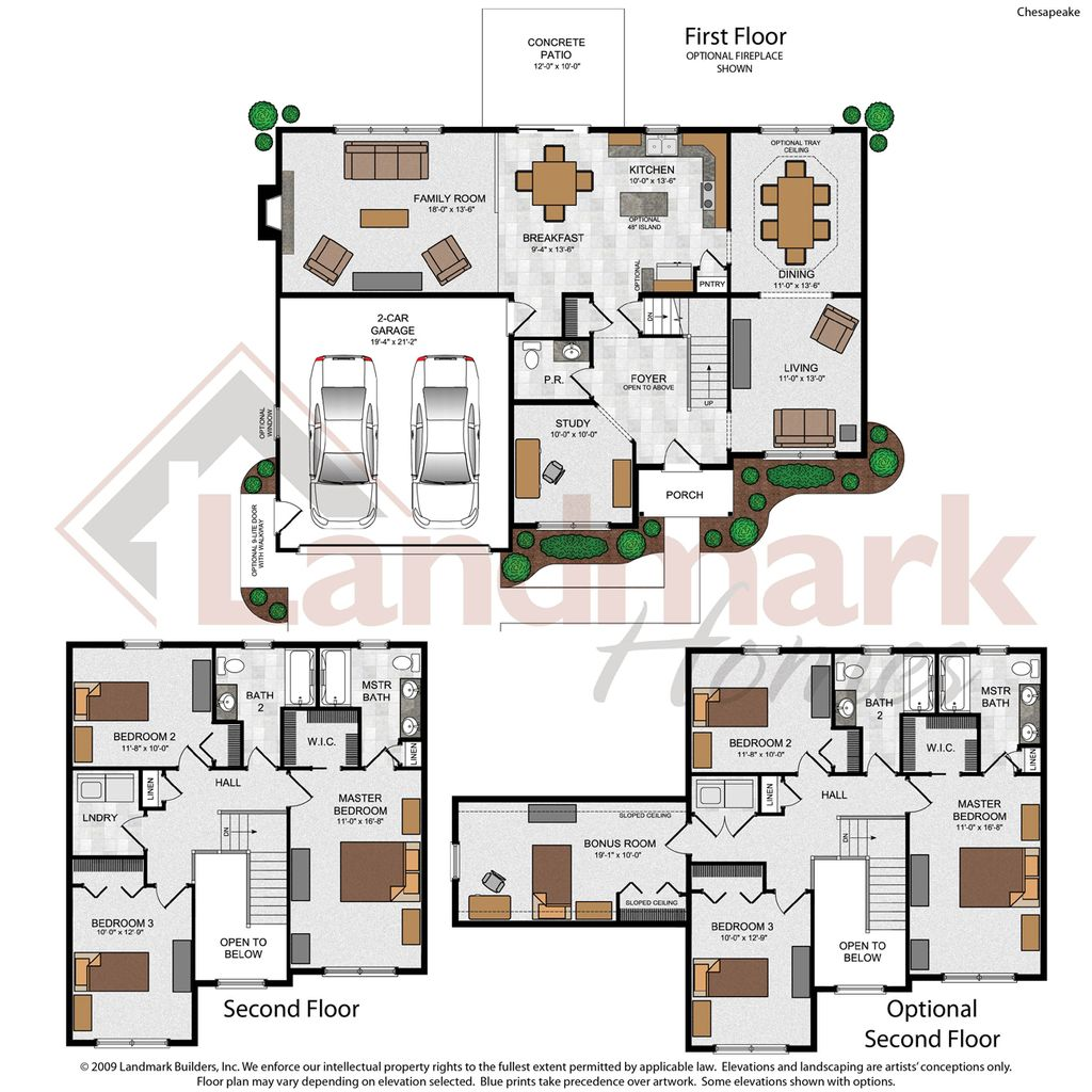 Chesapeake home plan by landmark homes in ridgewood for Landmark home plans