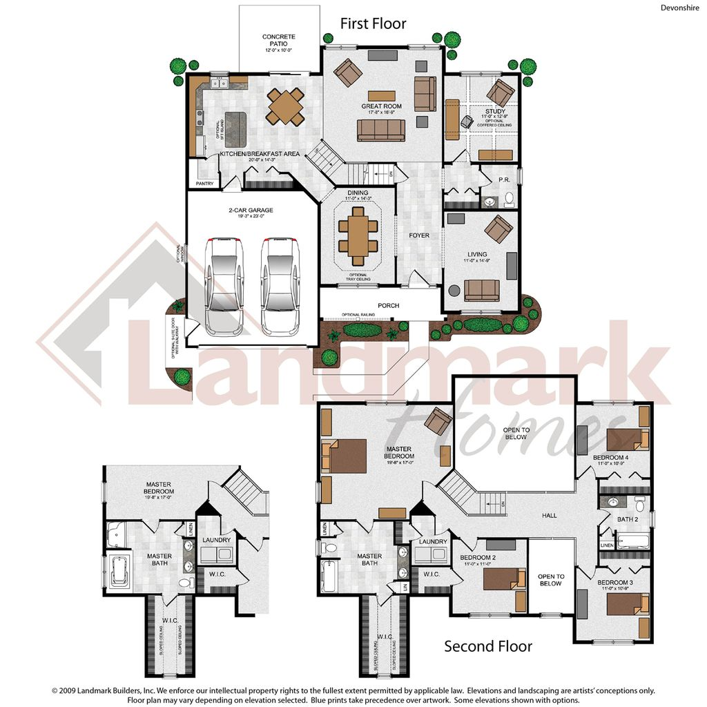 Devonshire home plan by landmark homes in available plans for Landmark home plans