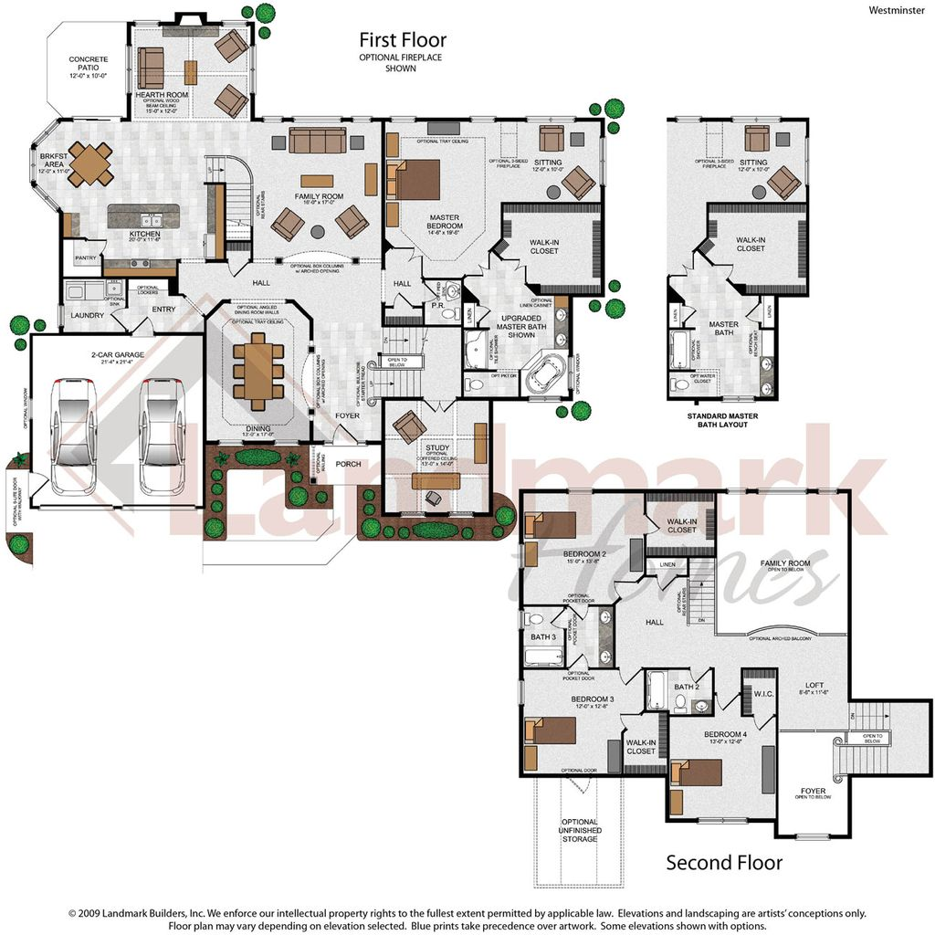 Westminster home plan by landmark homes in available plans for Landmark home plans