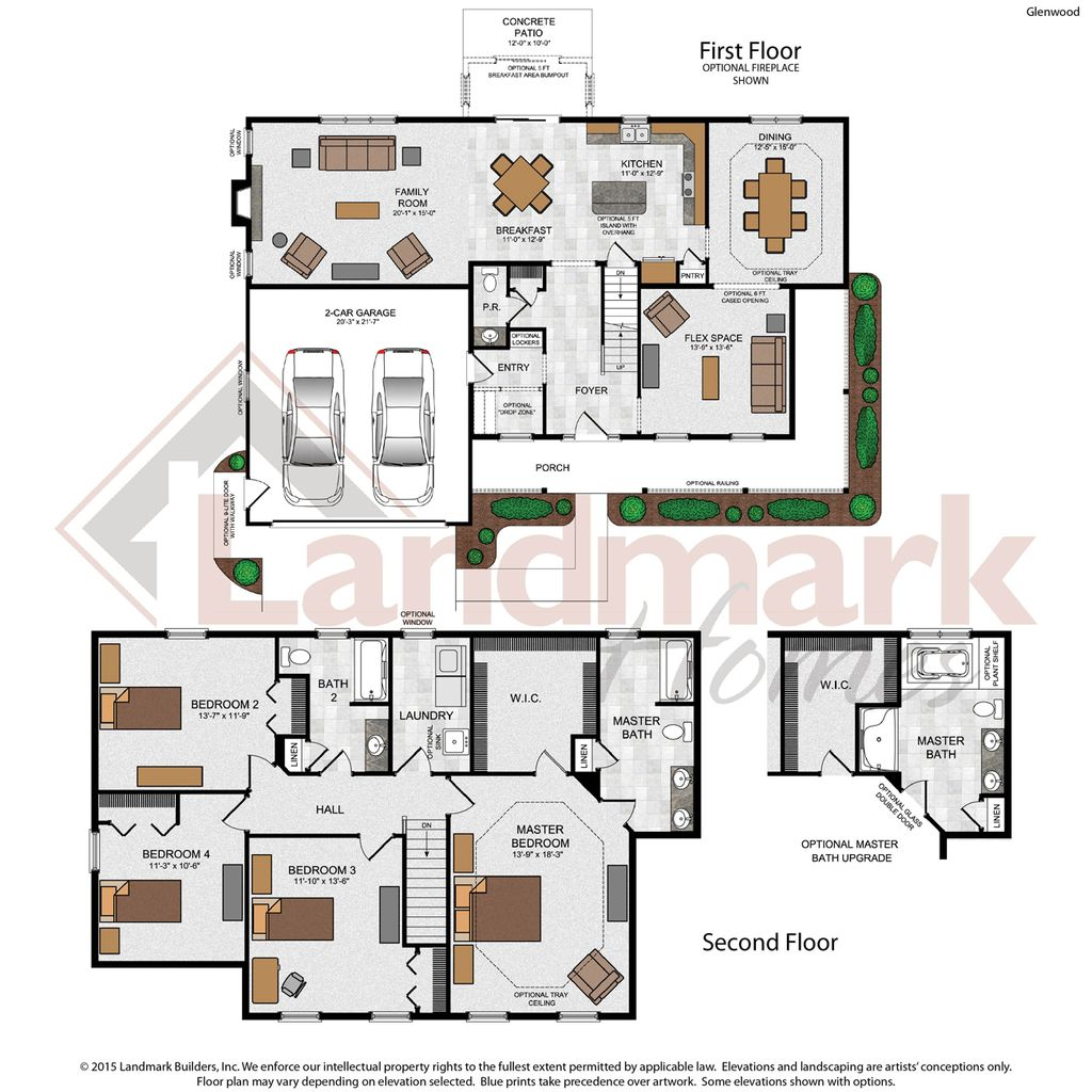Glenwood home plan by landmark homes in stoney pointe for Landmark home plans