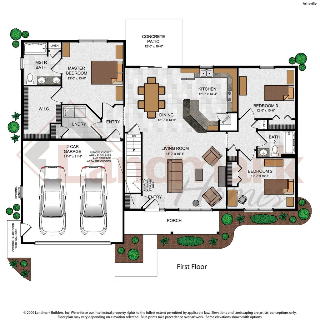 Asheville home plan by landmark homes in available plans for Landmark home plans