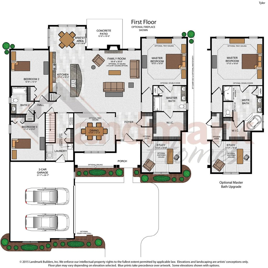 Tyler home plan by landmark homes in available plans for Landmark home plans