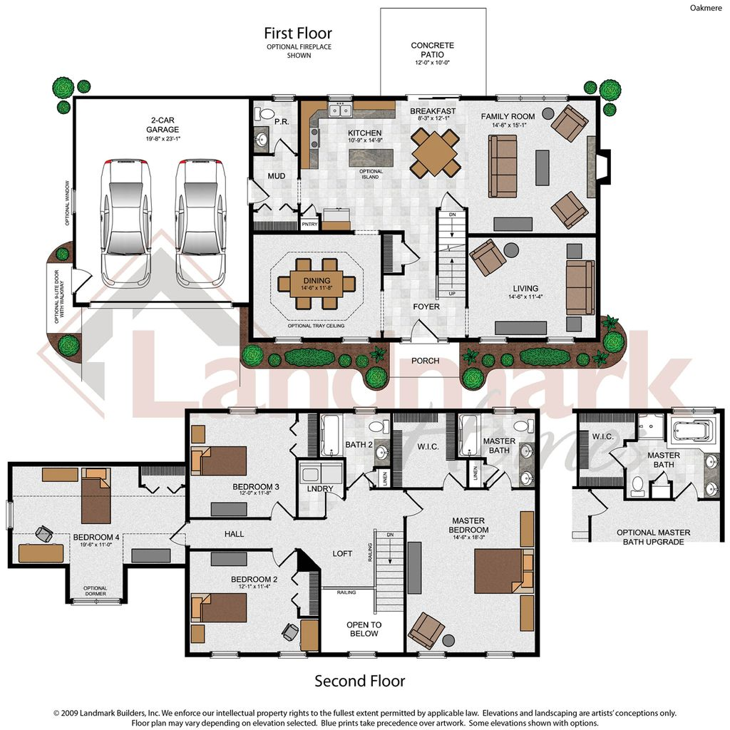 Oakmere home plan by landmark homes in saddle ridge estates for Landmark home plans