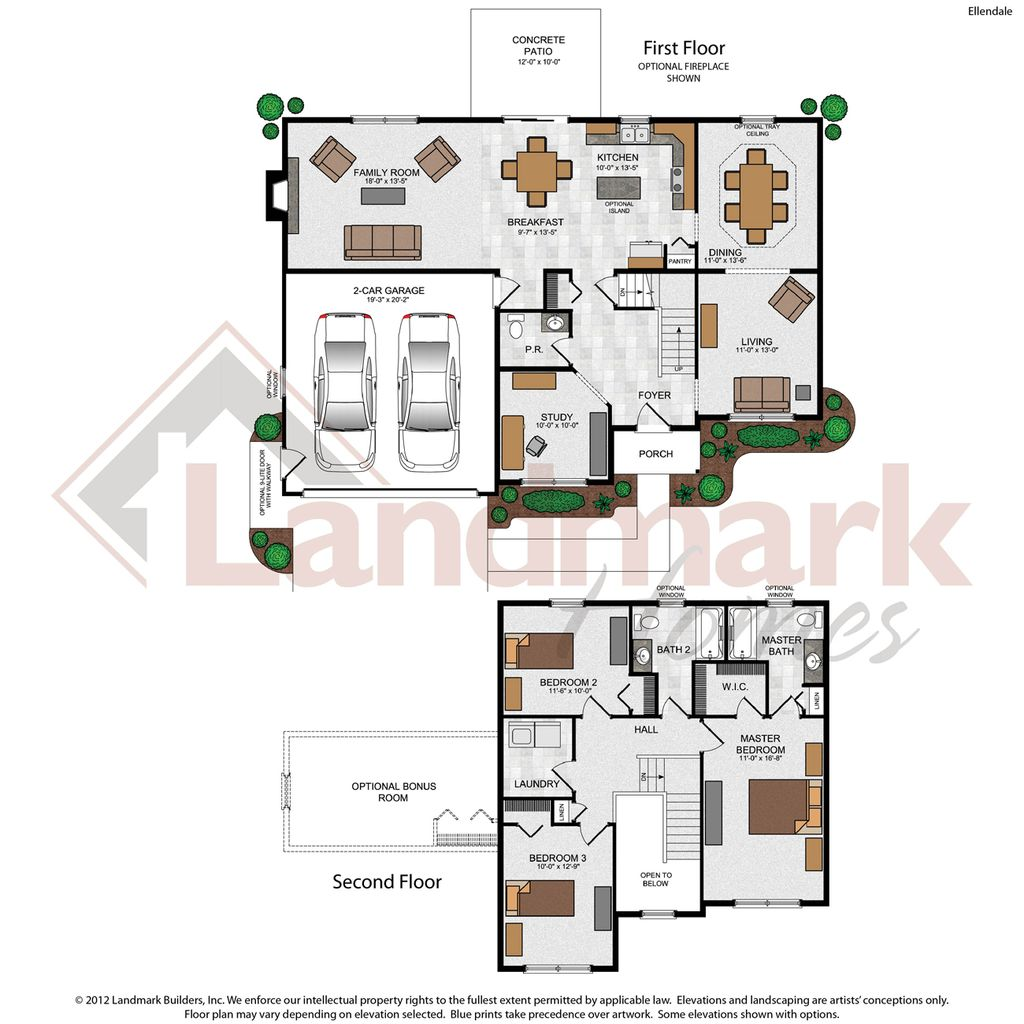 Ellendale home plan by landmark homes in greystone crossing for Landmark home plans