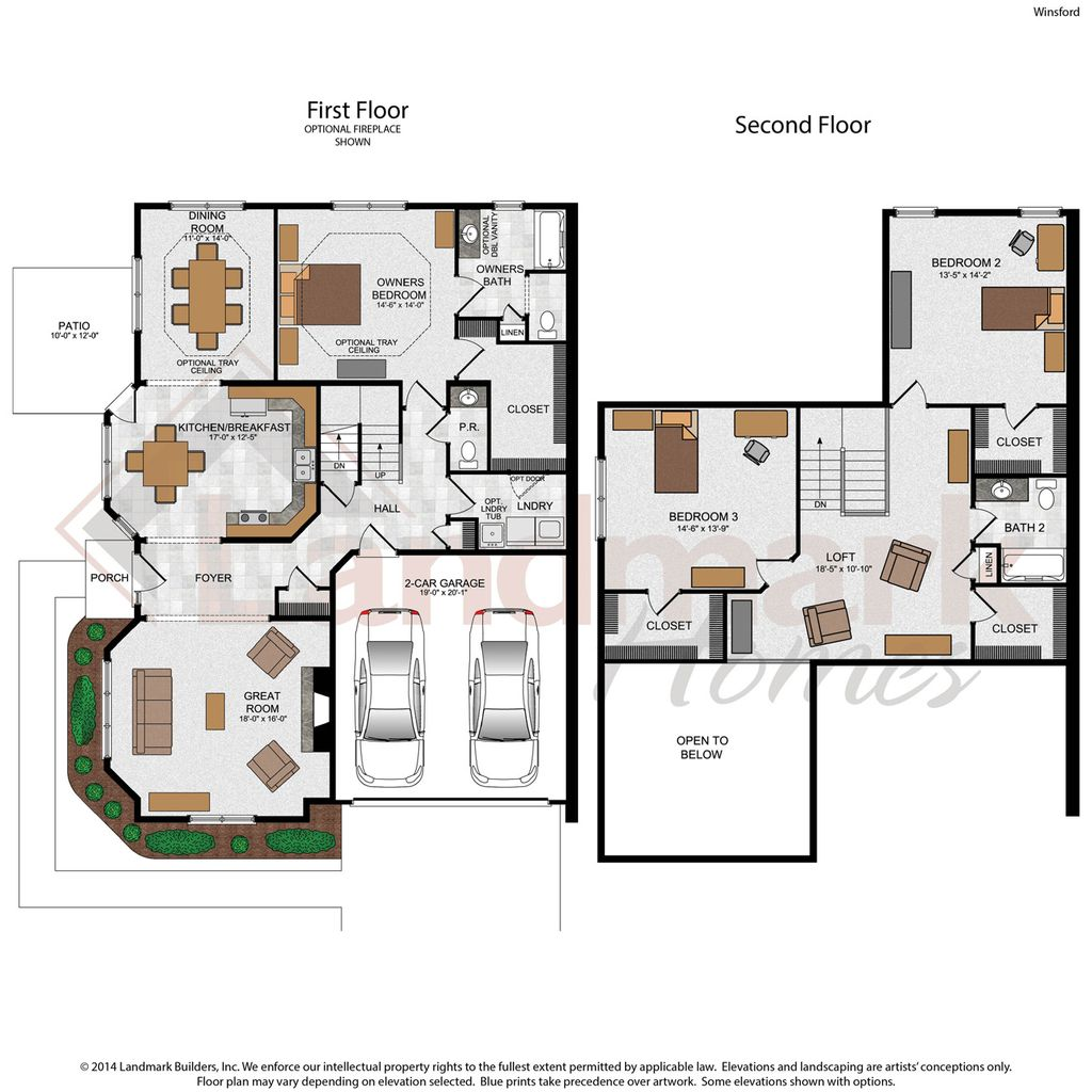 Winsford home plan by landmark homes in the townes at for Landmark home plans