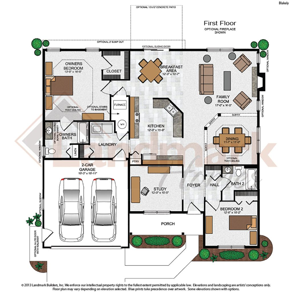 Blakely home plan by landmark homes in sweetbriar 55 living for House plans pa