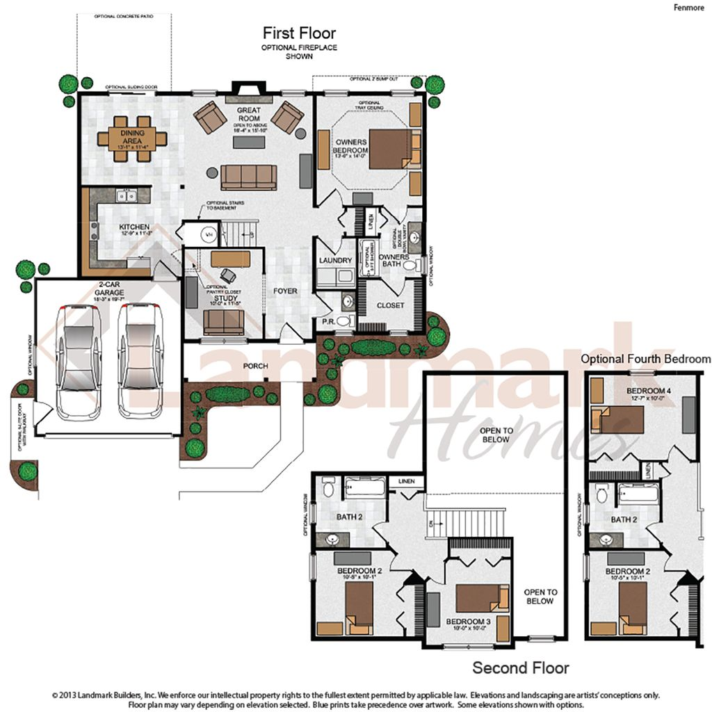 Fenmore home plan by landmark homes in available plans for Landmark home plans