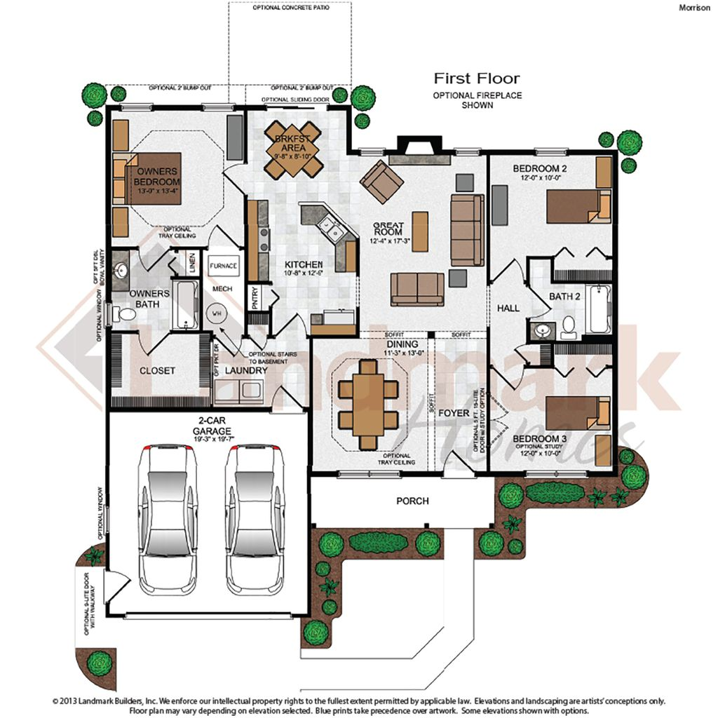 Morrison home plan by landmark homes in available plans for Landmark home plans