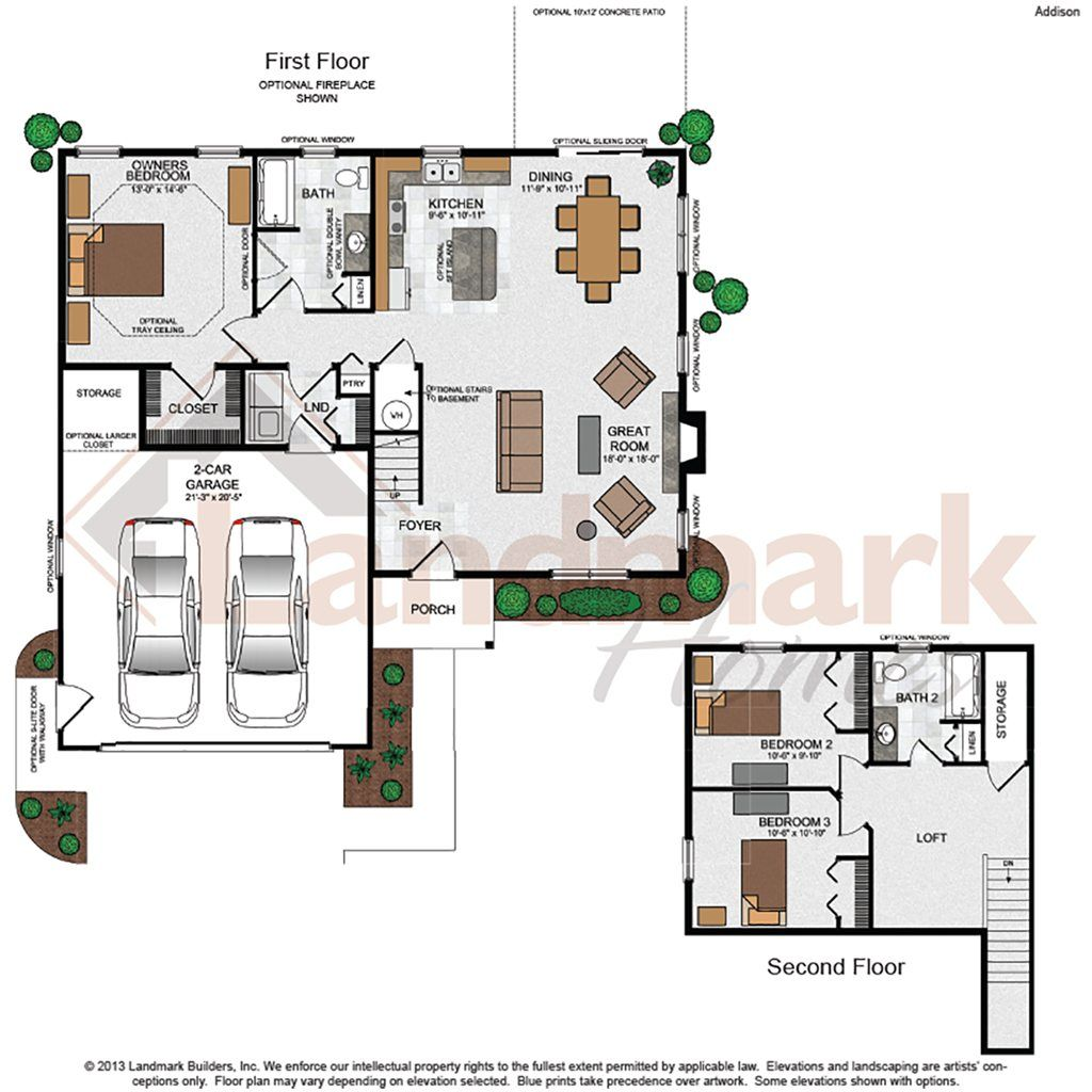 Addison Home Plan By Landmark Homes In Sweetbriar 55 Living