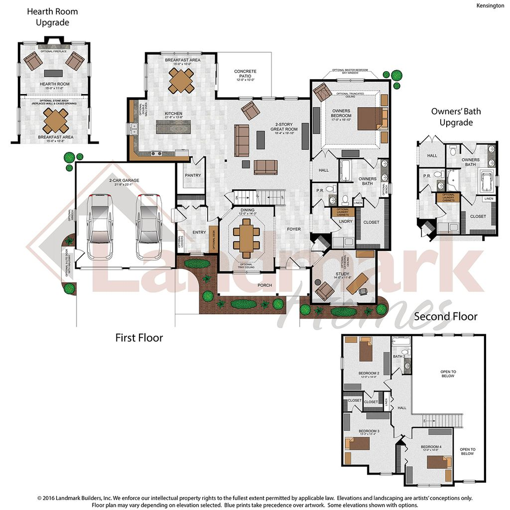 Kensington Home Plan By Landmark Homes In Available Plans