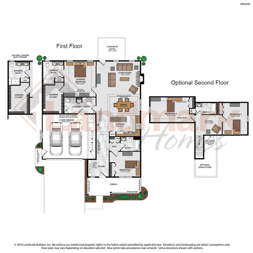 Atworth home plan by landmark homes in available plans for Landmark home plans