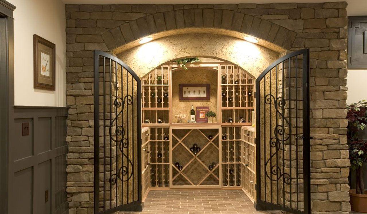 Wine Room in Basement