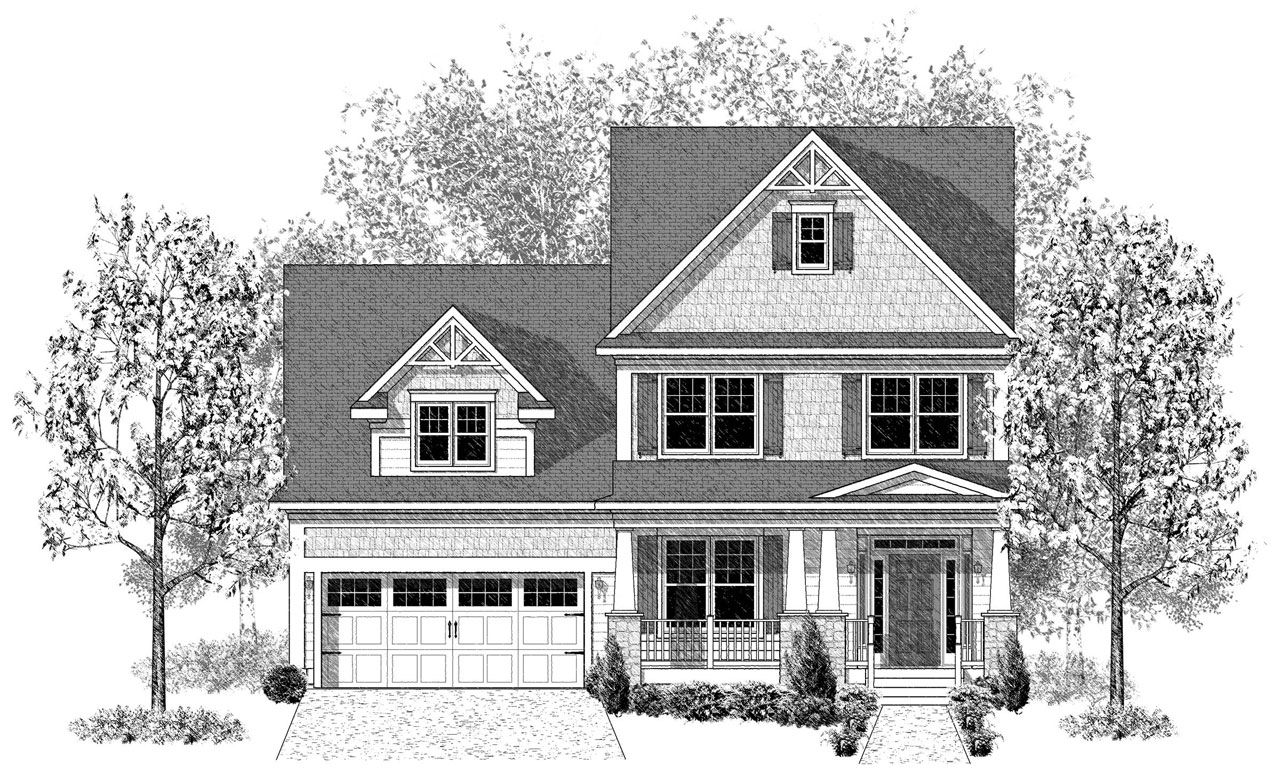 The brentwood home plan by landmark homes in home towne for Brentwood house plan