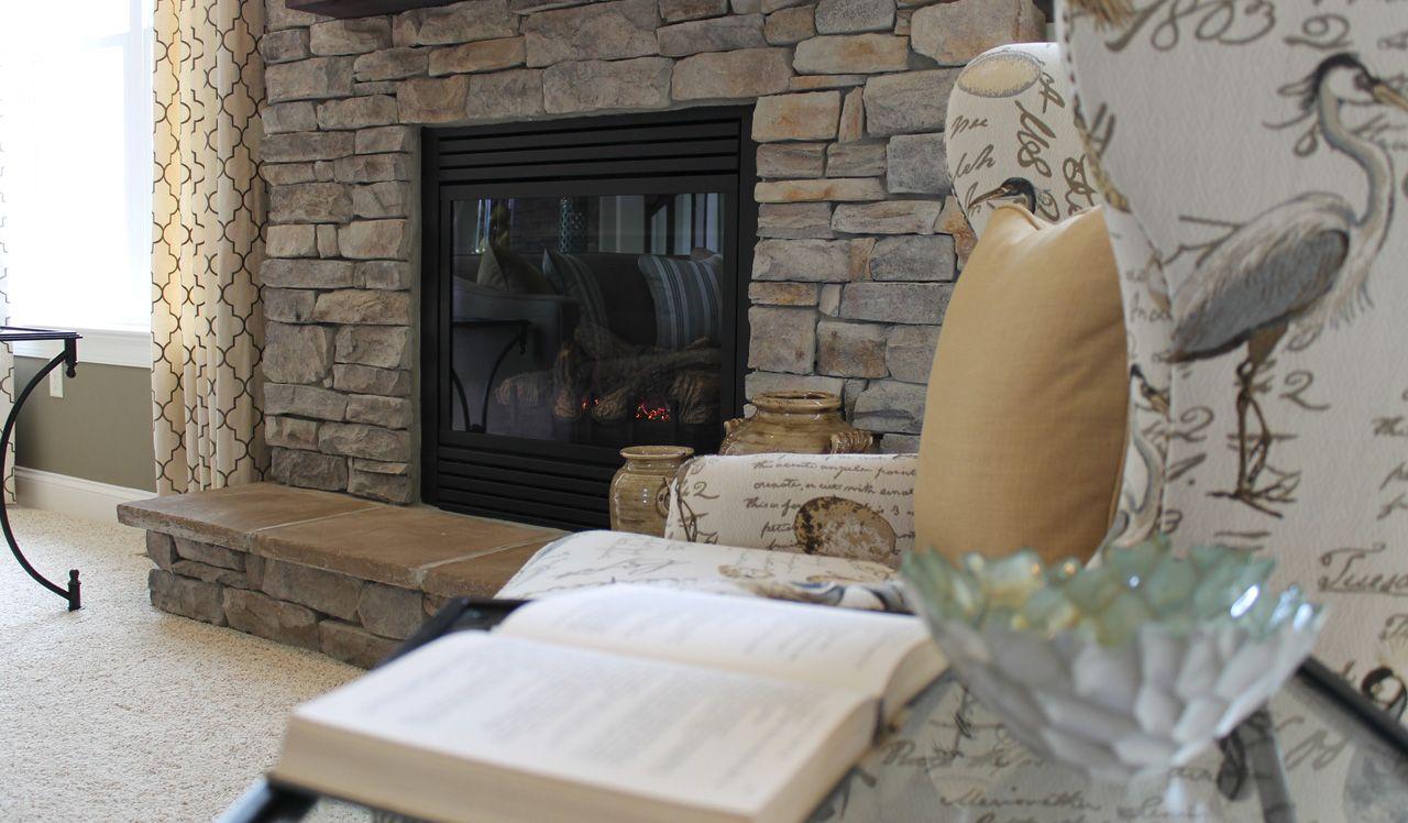 Gas Fireplace in Ellington Great Room