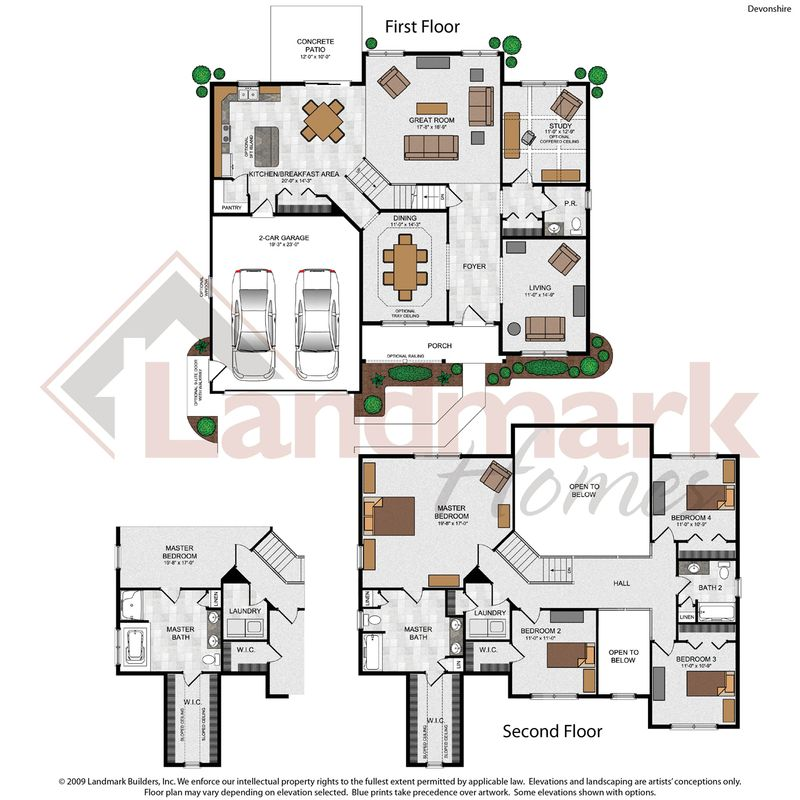 Devonshire home plan by landmark homes in available plans for Devonshire floor plan